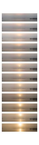 Rendezvous with Light: Sunrise Sequence, December 24, 2016, Texas Gulf Coast