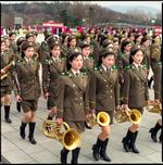 Hiroshi Watanabe: Female Army Band, Grand Monument on Mansu Hill, North Korea